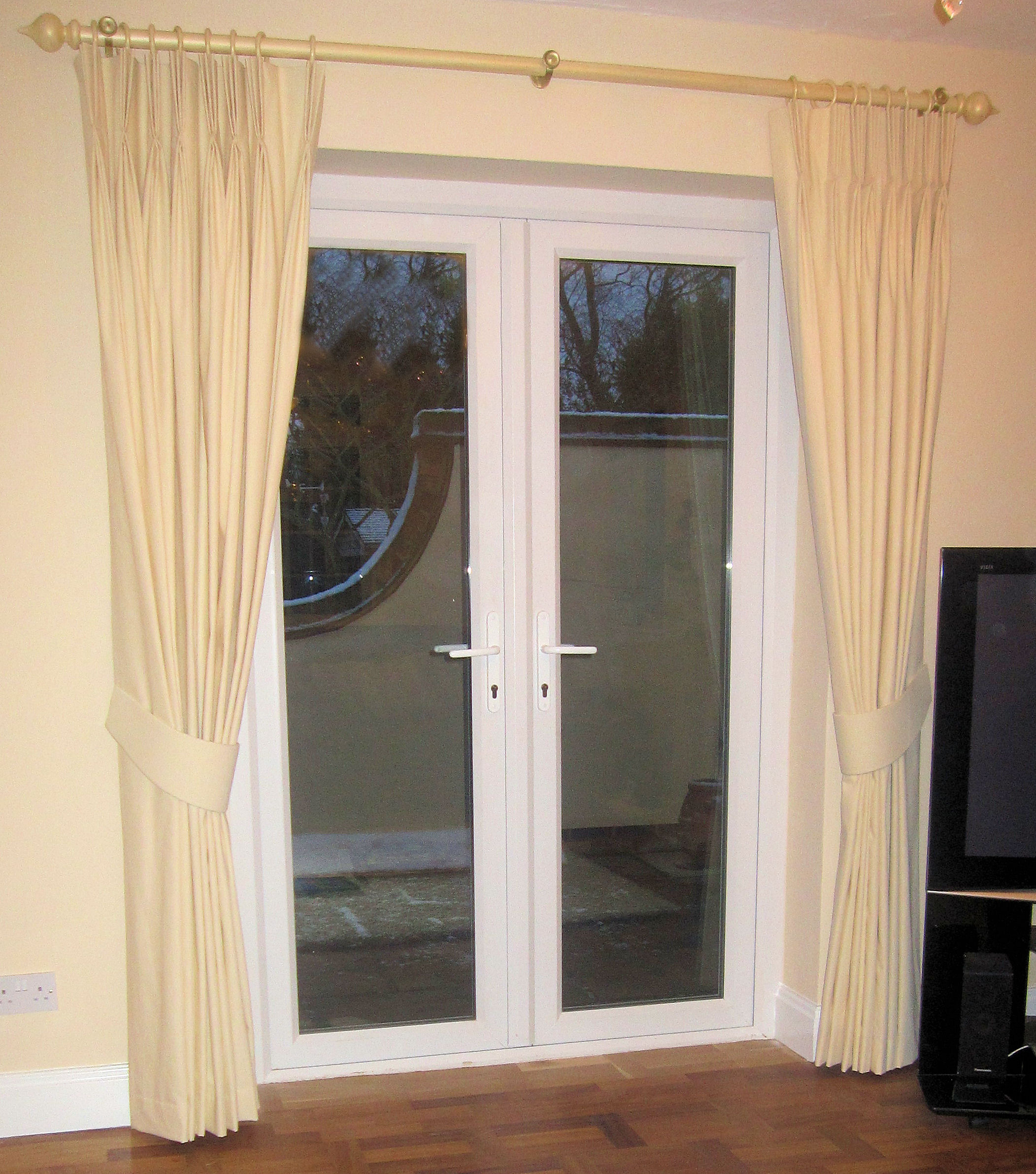 Curtains For Double French Doors Curtains for Glass Doors