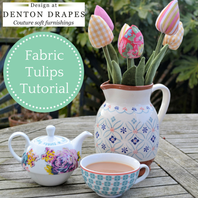 Fabric Tulips Tutorial Denton Drapes